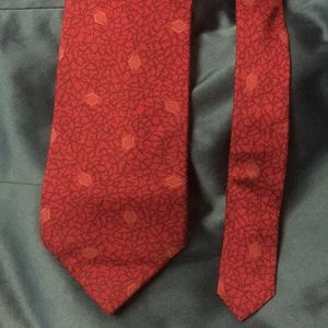 GIVENCHY Red silk tie in good condition